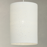 John Lewis Laney Easy-to-Fit Cylinder Ceiling Light, White