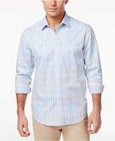 Tasso Elba Men's Multicolor Grid-Print Cotton Shirt, Only at Macy's