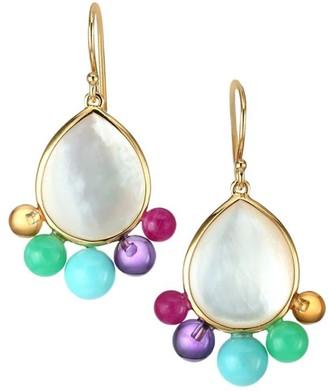 Ippolita Nova 18K Yellow Gold, Mother-Of-Pearl & Multi-Stone Drop Earrings