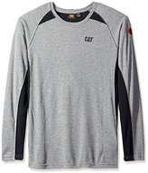 Caterpillar Big and Tall Men's Flame Resistant Long Sleeve Performance Crew
