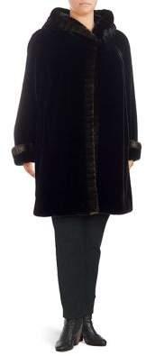 Plus Faux Fur Walker Jacket