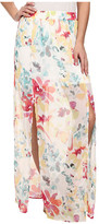 BB Dakota Vasco Watercolor Print Skirt