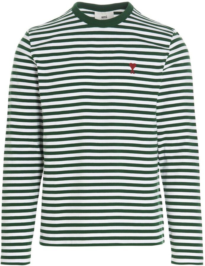 Thumbnail for your product : Ami Striped Long Sleeve T-Shirt