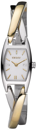 DKNY 'Crosswalk' Two Tone Bangle Watch, 18mm x 30mm