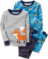 Carter's Baby Boys 4-pc. Fox Pajama Set