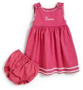 Princess Linens Infant's Personalized Dress & Diaper Cover Set