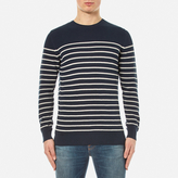 Barbour Men's Current Stripe Crew Neck Knitted Jumper