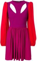 Alexander McQueen colourblock mini dress