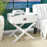 Beachcrest Home Antonina End Table with Storage Color: Blue