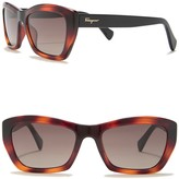 Salvatore Ferragamo 55mm Rectangular Cateye Sunglasses