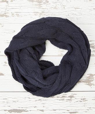 C.C Women's Cold Weather Scarves Navy - Navy Infinity Scarf - Women