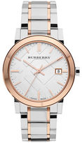 Burberry City Two-Tone Stainless Steel Bracelet Watch/38MM