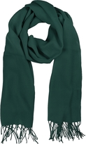 Mila Schon Petrol Green Wool and Cashmere Stole