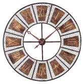 Lazy Susan Wooden Outdoor Wall Clock Brown ;