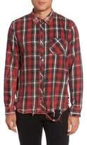 Hudson Slim Fit Plaid Sport Shirt