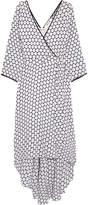 Diane von Furstenberg Asymmetric Polka-dot Silk Midi Wrap Dress