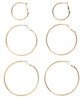 BP Women's 3-Pack Hoop Earrings