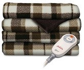 Slumber Rest SlumberRest Sunbeam® SlumberRest Microplush Heated Throw with foot pocket - Patterned