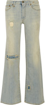 R 13 The Jane distressed wide-leg jeans