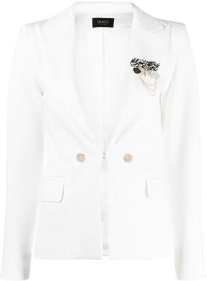 Liu Jo Tailored Brooch Lapel Blazer