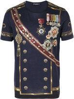 Dolce & Gabbana military print T-shirt