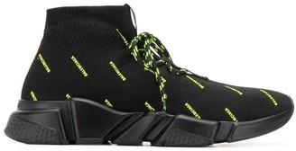 Balenciaga Speed neon logo sneakers