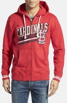 Mitchell & Ness Men's 'St. Louis Cardinals - No Grind' Tailored Fit Full Zip Hoodie