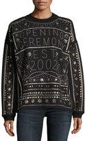 Opening Ceremony Studded Logo Long-Sleeve Sweatshirt