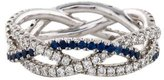 Kwiat 18K Diamond & Sapphire Twist Band