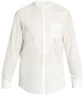 Massimo Alba Noto Granddad-collar Cotton-blend Shirt
