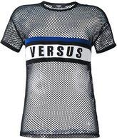 Versus logo print mesh T-shirt