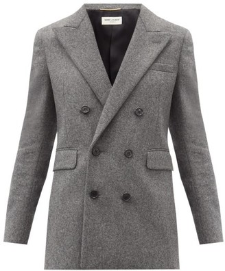 Saint Laurent Double-breasted Virgin-wool Jacket - Grey