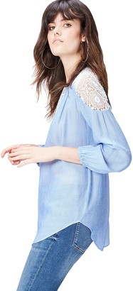 Find. Women's Top in Tunic Shape with Yoke Detail and Long Sleeves