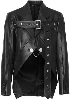 Burberry Biker Belt Detail Leather Morning Jacket