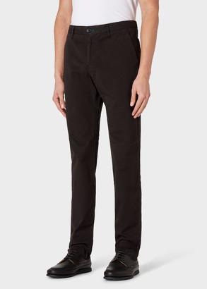 Paul Smith Men's Slim-Fit Black Stretch Pima-Cotton Chinos