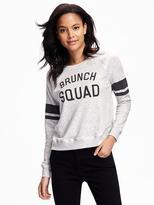 Old Navy Relaxed Graphic Fleece Sweatshirt for Women
