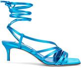 ATTICO Kitten Heel Sandal in Turquoise | FWRD