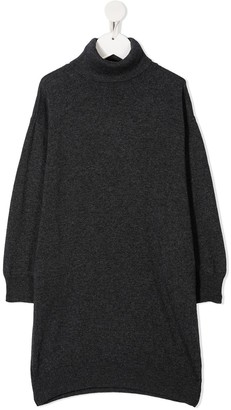 DSQUARED2 Intarsia-Logo Jumper Dress