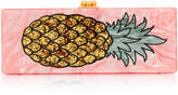 Edie Parker M'O Exclusive Flavia Acrylic Pineapple Clutch