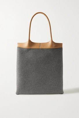 Gabriela Hearst Leather-trimmed Cashmere Tote - Gray