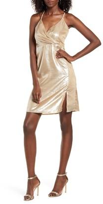 4SI3NNA the Label Remi Metallic Mini Dress