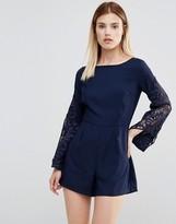 AX Paris lace Sleeve Romper