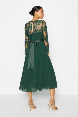 Coast Embroidered Long Sleeve Midi Dress