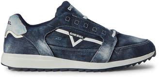 Diesel Indigo S-Fleett Denim Low-Top Sneakers