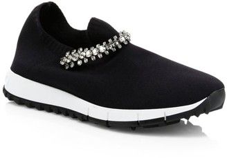 Jimmy Choo Verona Crystal Knit Sneakers