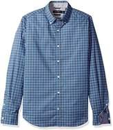 Nautica Men's LS Wrinkle Resistant Stretch Poplin Check Button Down Shirt