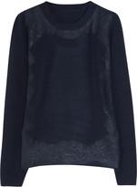 Valentino Lace-appliquéd merino wool-blend sweater