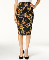 Thalia Sodi Chain-Print Pencil Skirt, Only at Macy's