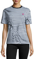 McQ by Alexander McQueen Short-Sleeve Classic Striped Tee, Black/White