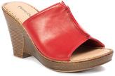 Pierre Dumas Red Jolie Wedge Sandal